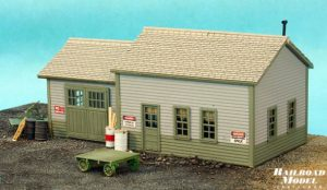 HO Scale MOW Shed Kit